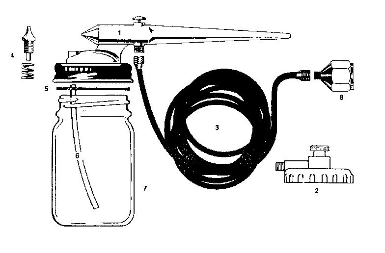 Craftsman model 36415502 spray gun genuine parts