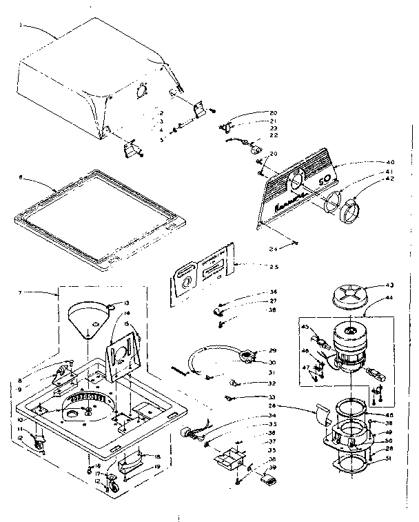 Kenmore model 1161650 vacuum, built-in genuine parts