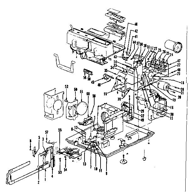 Sears model RF-53 projector genuine parts