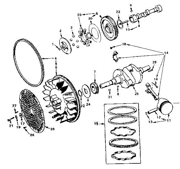 Onan model BF-MS/3265F engine genuine parts