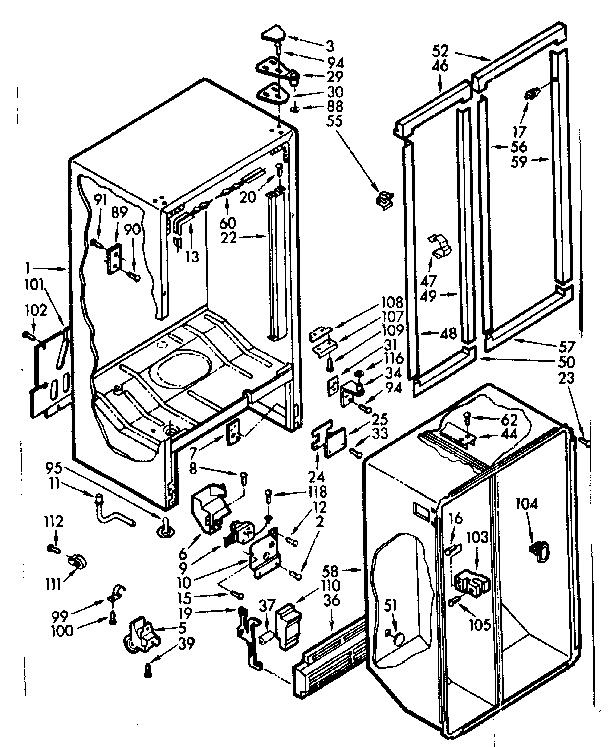 Kenmore model 1067610540 refrigerators-misc genuine parts