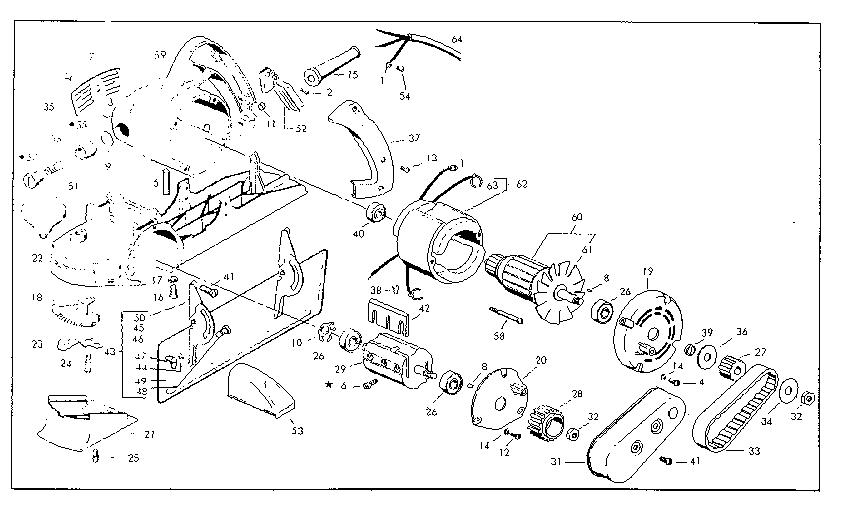 Skil model 100 TYPE 4 planer genuine parts