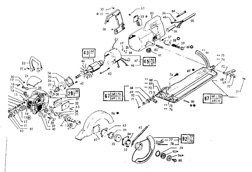 Skil model 825 TYPE 11 saw circular genuine parts