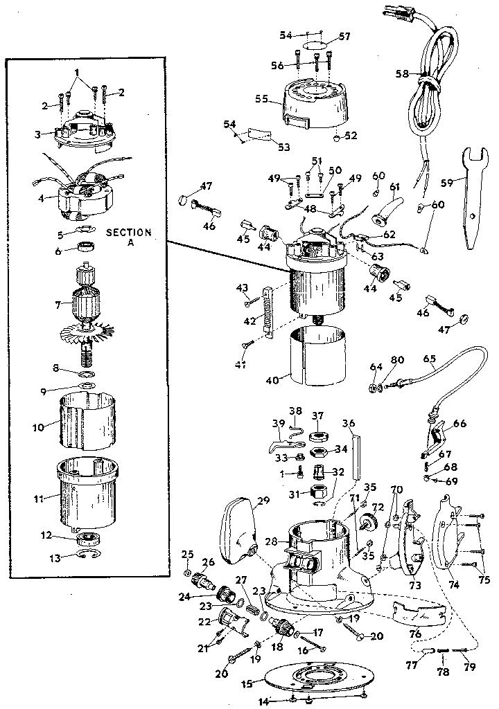 Craftsman model 31517380 router genuine parts