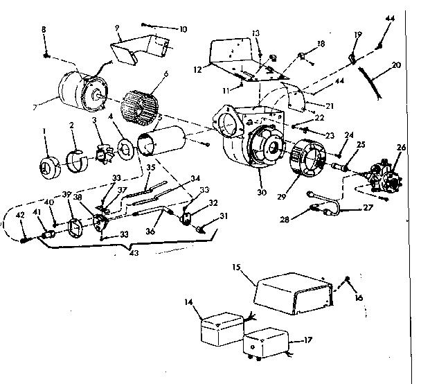 Icp model LO-170-3 furnace/heater, oil genuine parts