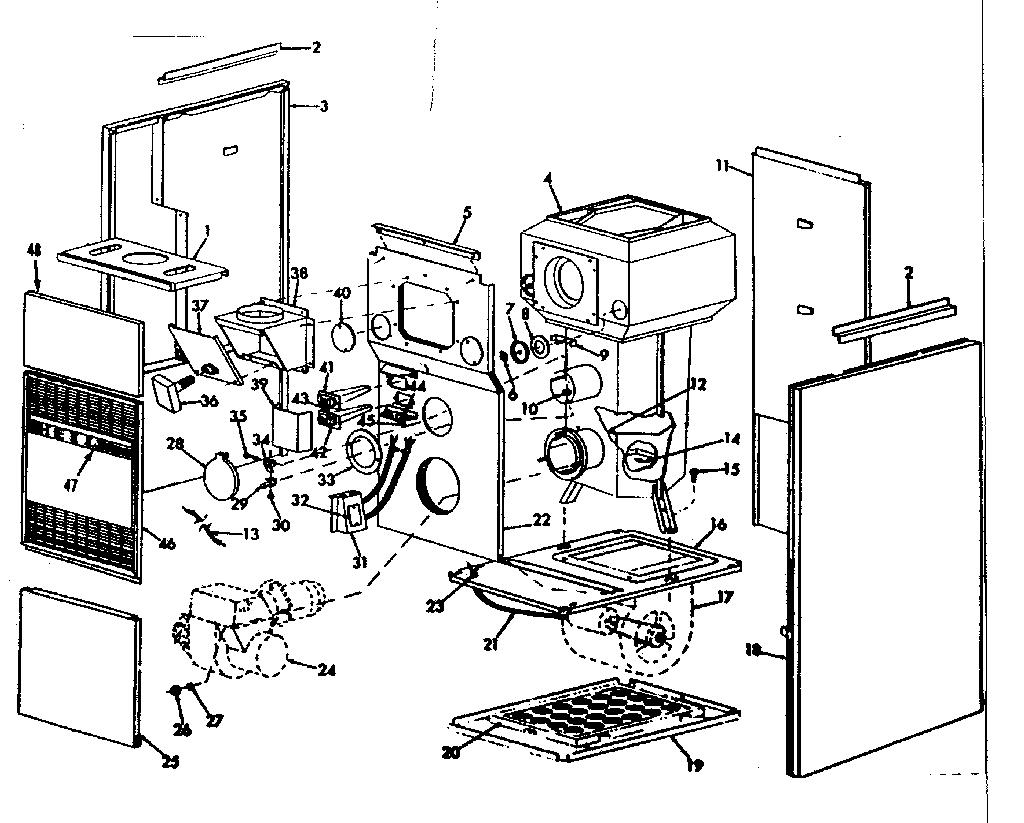 Icp model UO-112DA-C furnace/heater, oil genuine parts