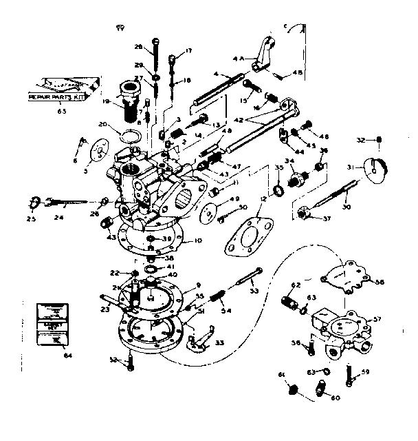 Craftsman model 91760002 chainsaw genuine parts