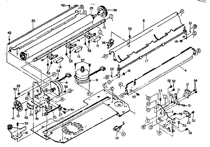 Oki-Data model MICROLINE 84 printer genuine parts
