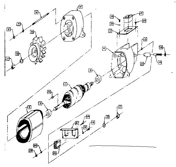 Craftsman model 58031060 generator genuine parts