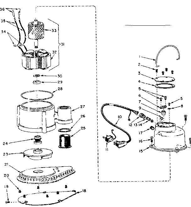 Craftsman model 39030302 submersible pumps genuine parts