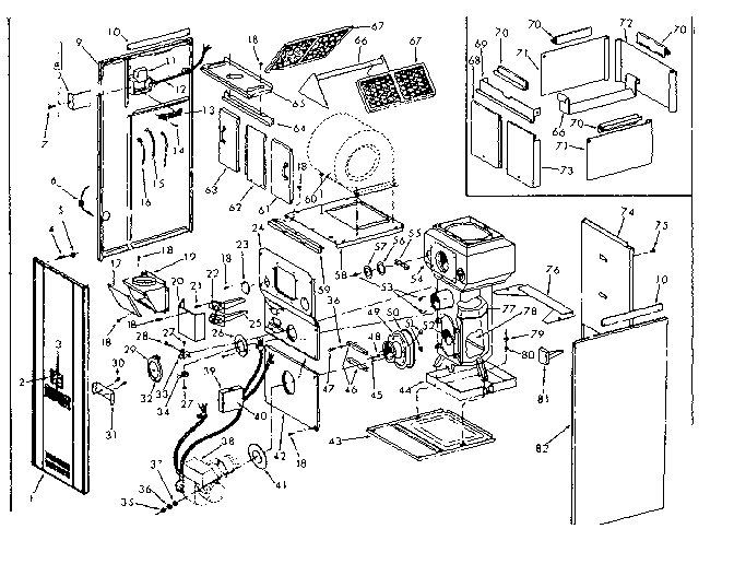 Kenmore model 867745930 heater, kerosene genuine parts