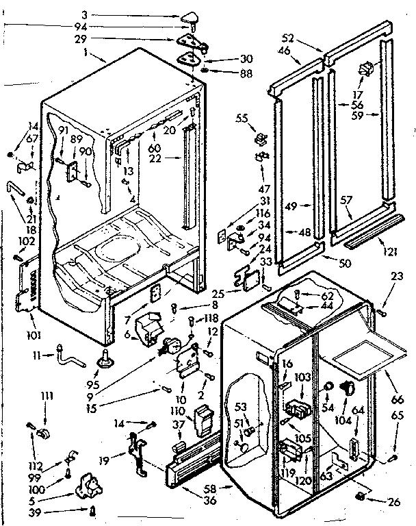 kenmore 106 refrigerator parts diagram payne air handler wiring model 1067630562 refrigerators misc genuine cabinet