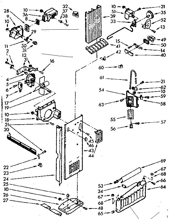 kenmore 106 refrigerator parts diagram ford 302 engine model 1067630562 refrigerators misc genuine air