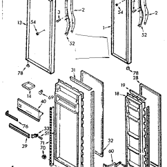 Kenmore 106 Refrigerator Parts Diagram Trailer Light Wiring 6 Pin Model 1067630562 Refrigerators Misc Genuine Door