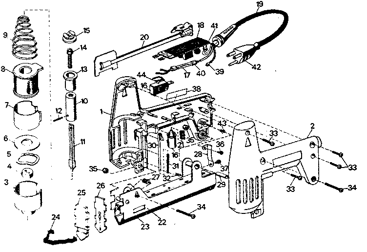 Craftsman model 900684250 nailer genuine parts