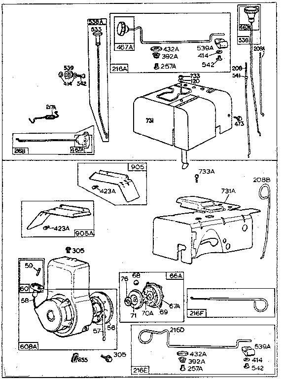 Craftsman model 500130299 engine genuine parts