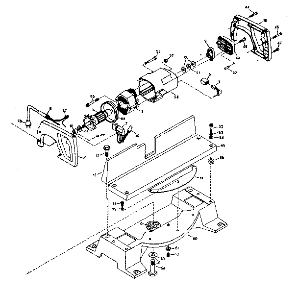 Craftsman model 90123470 saw radial genuine parts