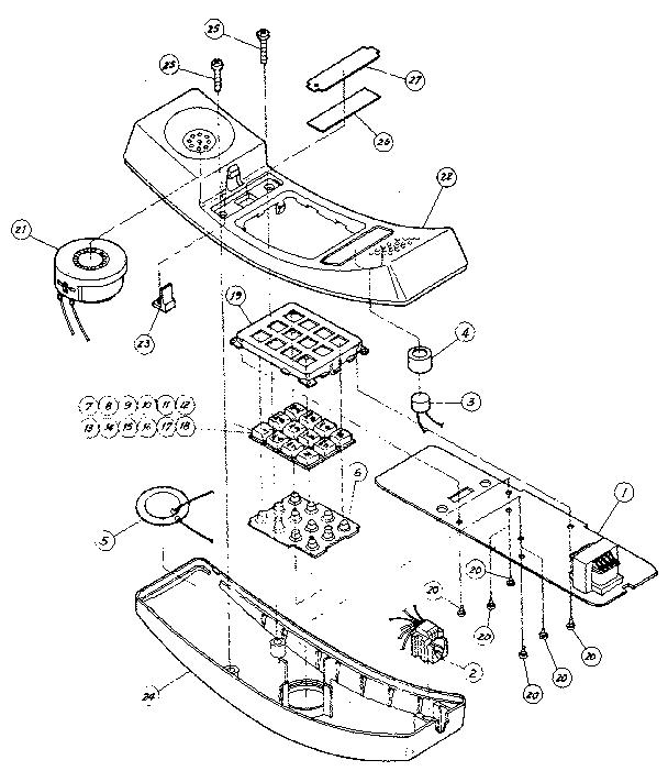 Sears model 21659230 telephone equipment genuine parts