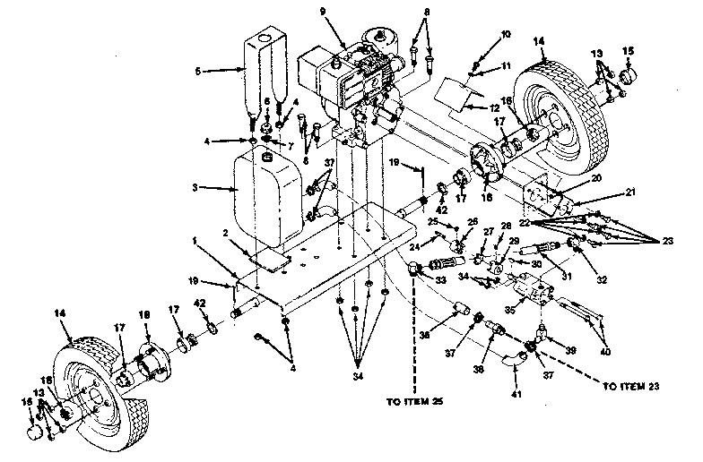 Sears model 149286582 log splitter genuine parts