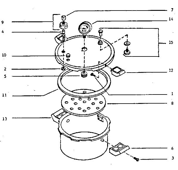 Presto model 0178003 pressure cooker genuine parts