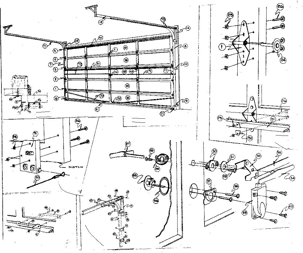 Sears model 234667160 garage door genuine parts
