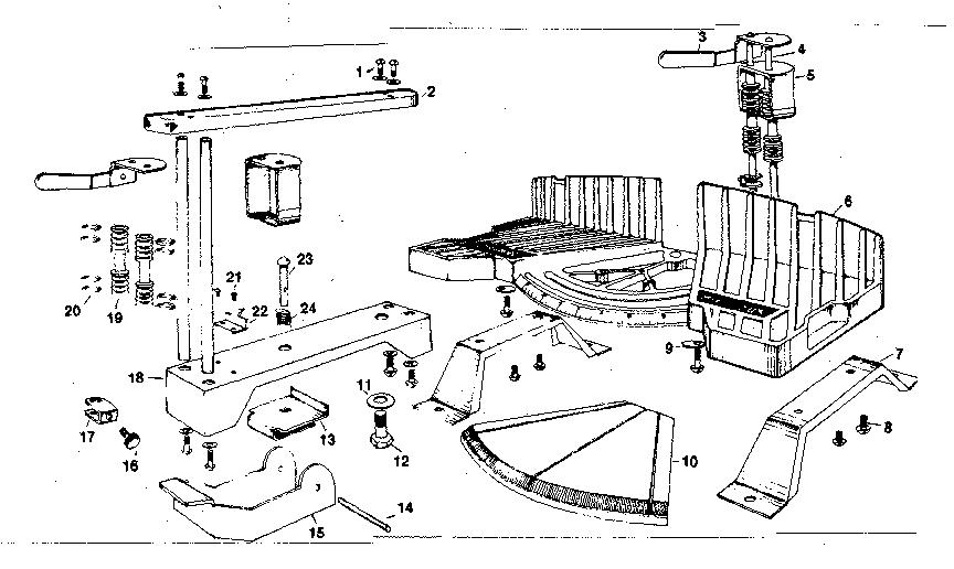 Craftsman model 88136305 miter saw genuine parts