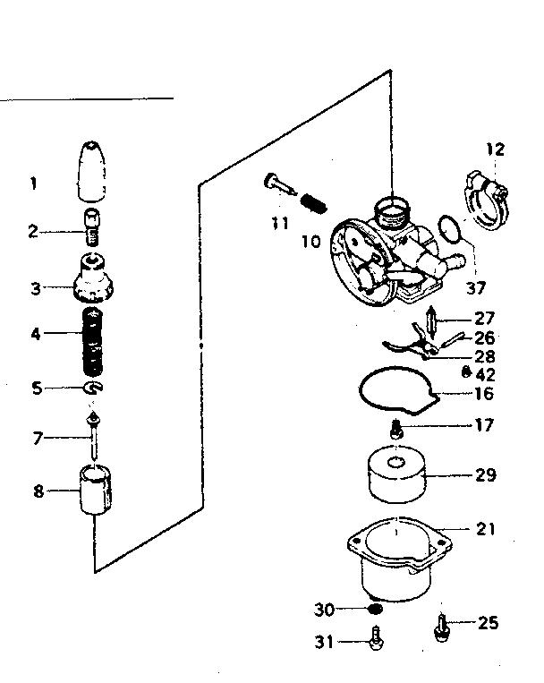 CRAFTSMAN GAMEFISHER OUTBOARD MOTOR 1.75 H.P. Parts