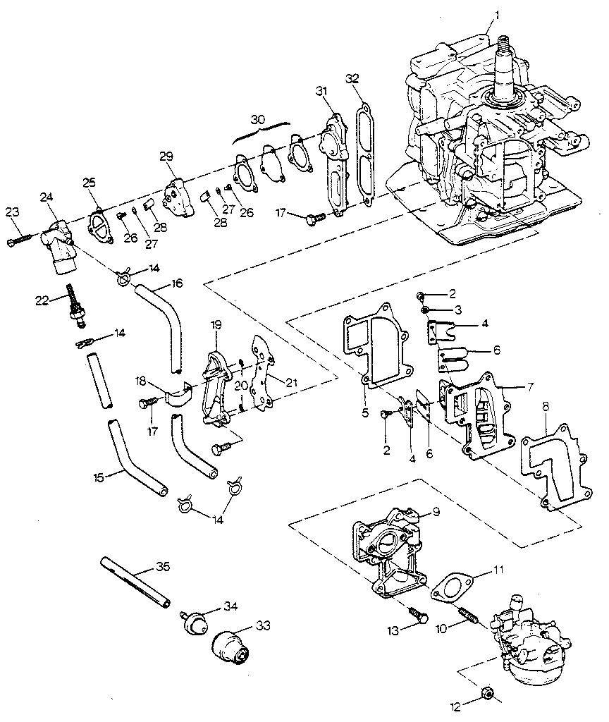 Craftsman model 225581500 boat motor gas genuine parts