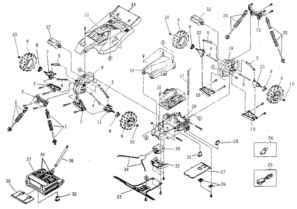 Nikko model 10960 radio/remote control toys genuine parts