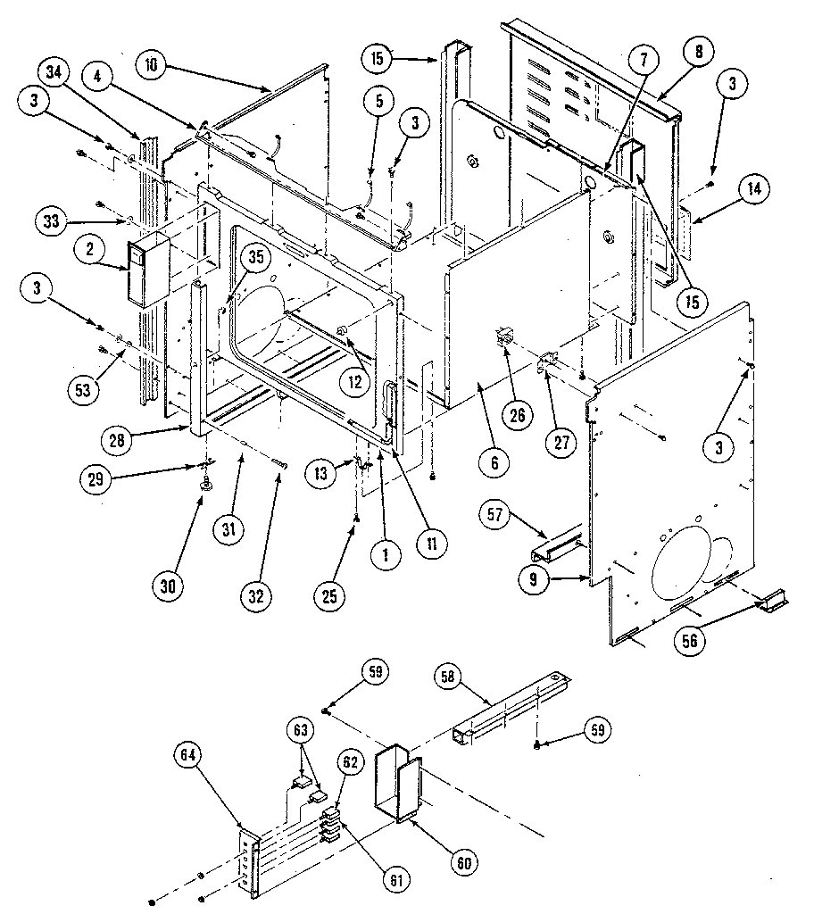 Kenmore model 20133(1988) slide-in range, electric genuine