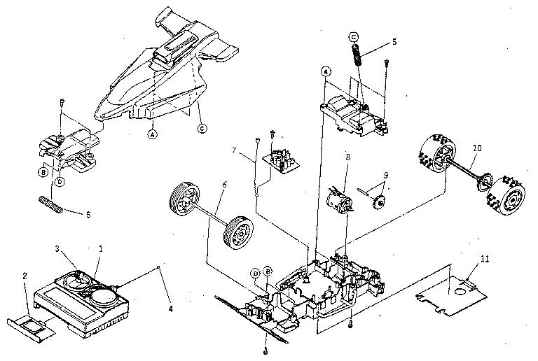 Nikko model 20292 radio/remote control toys genuine parts