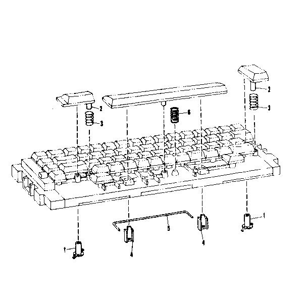 Brother model STUDENT-RITER XL I typewriter genuine parts