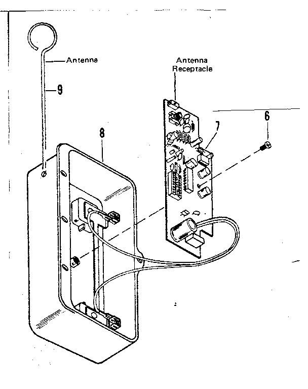 CRAFTSMAN SEARS ELECTRONIC GARAGE DOOR OPENER Parts