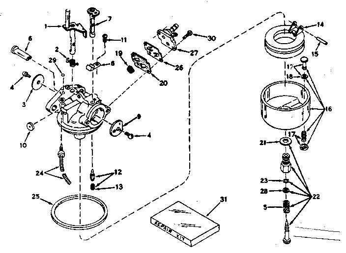 Craftsman model 21759440 boat motor gas genuine parts
