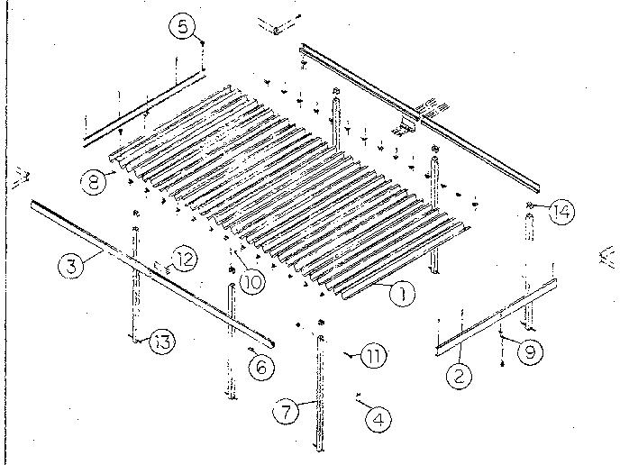Sears model 67362001 patio cover genuine parts