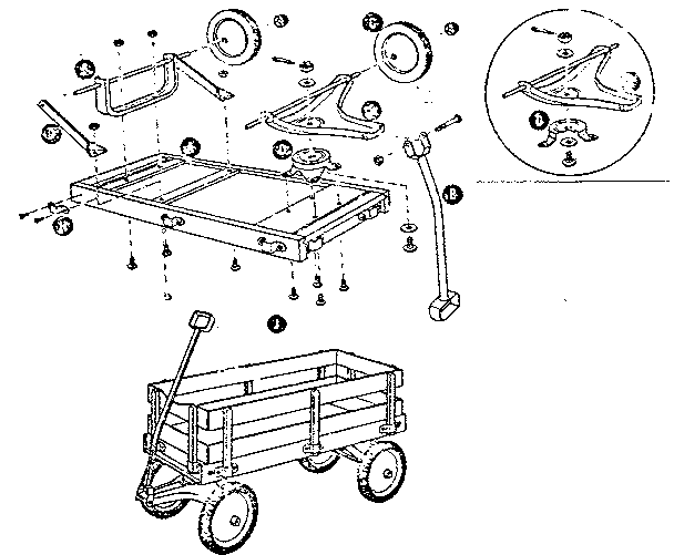 Sears model 18985518 wheelbarrow genuine parts