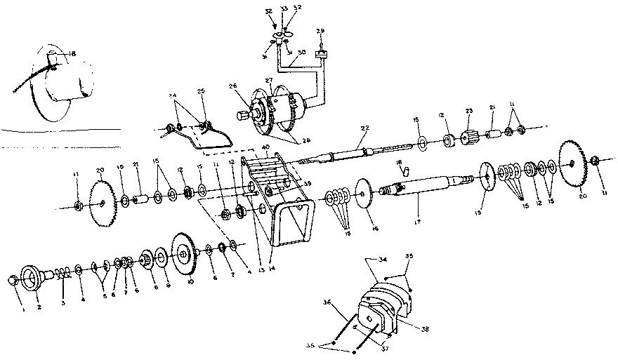 Sears model 667392500 winch genuine parts