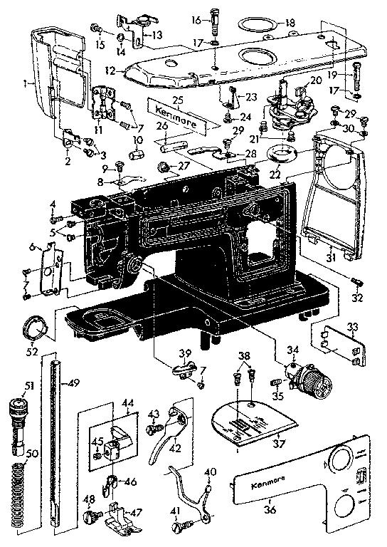 Kenmore model 14819370 mechanical sewing machines genuine