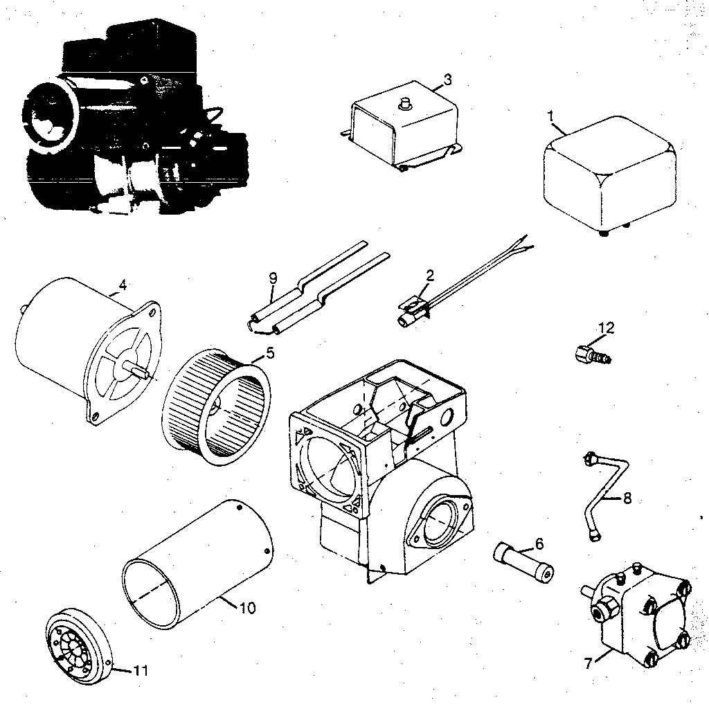 Wayne model M-SR-6X burner, furnace genuine parts