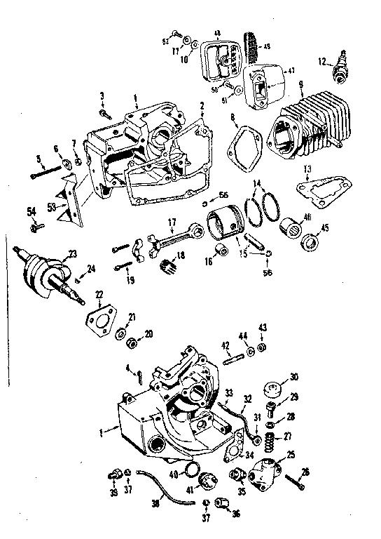 Craftsman model 358350840 chainsaw, gas genuine parts