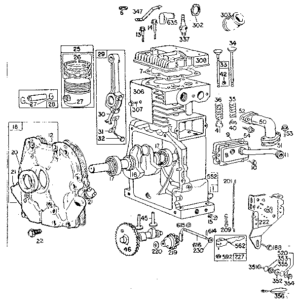 BRIGGS & STRATTON BRIGGS & STRATTON 4-CYCLE ENGINE-8