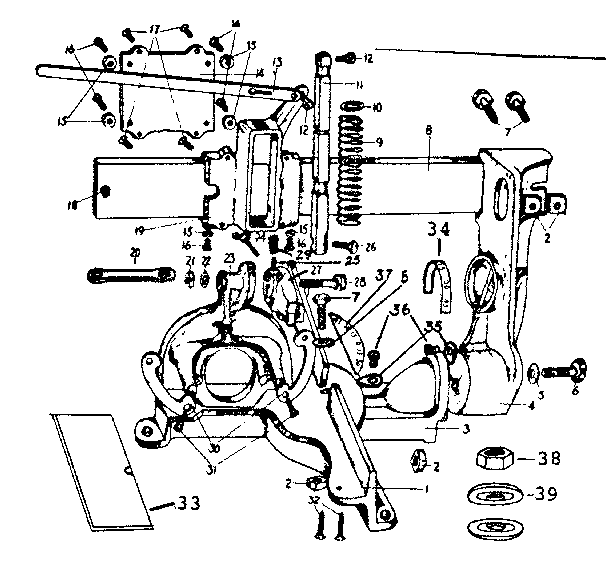 Craftsman model 33511978 hardware/tools genuine parts
