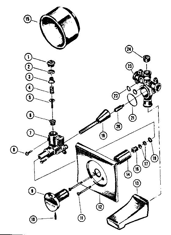 Kenmore model 2542044 faucet genuine parts