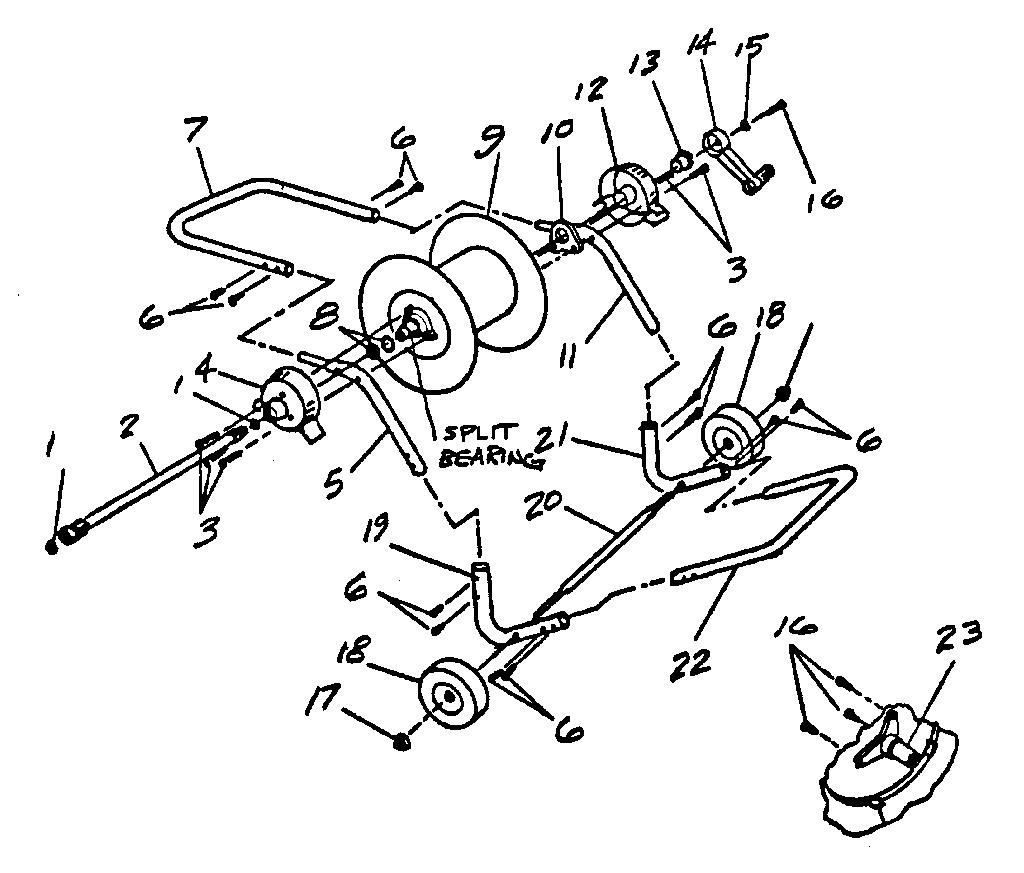 Craftsman model 44569560 hose reel genuine parts