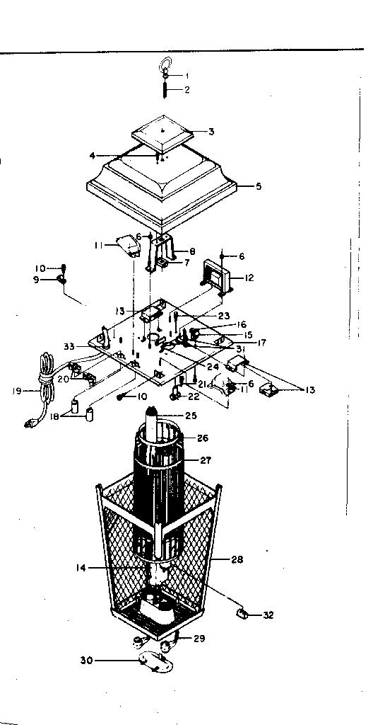 Craftsman model 83314314 insect lantern genuine parts