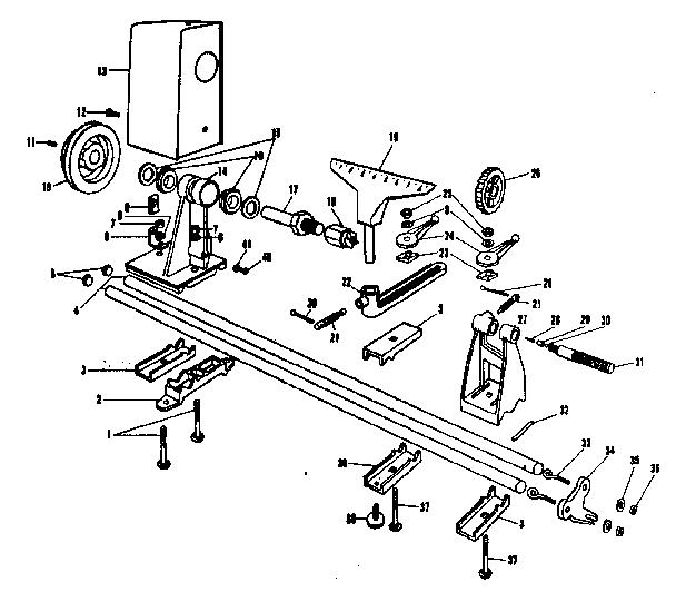 Craftsman model 14923870 lathe genuine parts