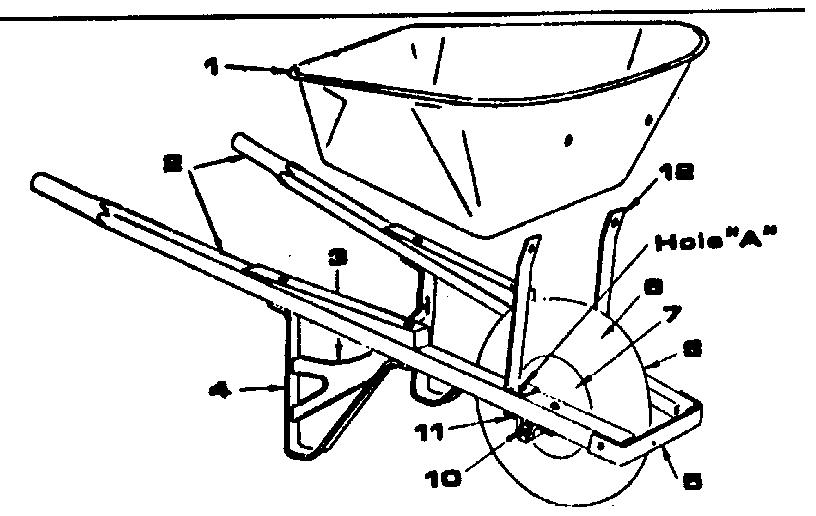 Craftsman model 45287187 wheelbarrow genuine parts