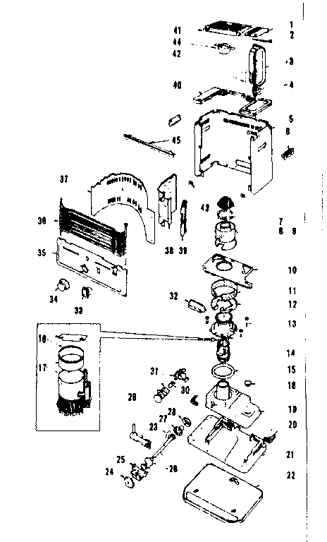 Koehring model KRB93A heater, kerosene genuine parts