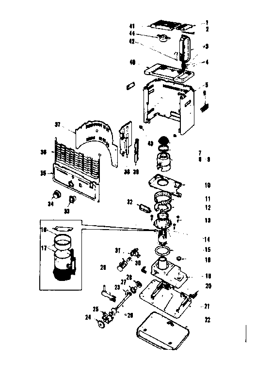 Comfort-Glow model GRW8B heater, kerosene genuine parts