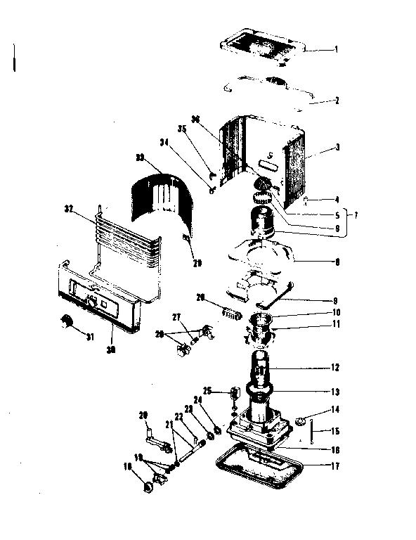 Koehring model KRB68 heater, kerosene genuine parts